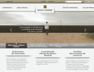 bancomadrid.com screenshot