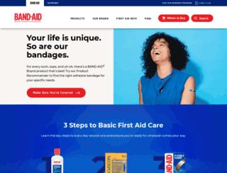 bandaid.com screenshot