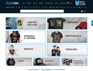 bandtees.com screenshot