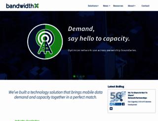 bandwidthx.com screenshot
