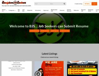 bangalorejobseekers.com screenshot