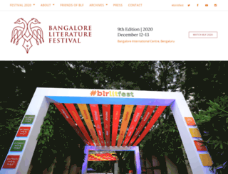 bangaloreliteraturefestival.org screenshot