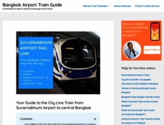 bangkokairporttrain.com screenshot