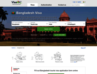 bangladesh.visahq.in screenshot