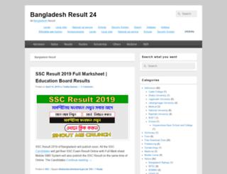 bangladeshresult24.com screenshot