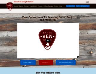 banjobenclark.com screenshot