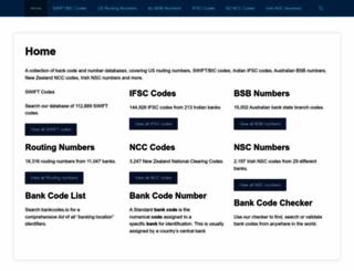 bankcodes.co screenshot