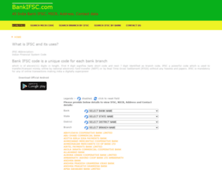 bankifsc.com screenshot