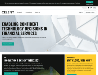 bankingblog.celent.com screenshot