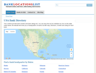 banklocationslist.com screenshot