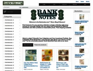 banknotes.com screenshot