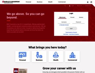 bankofalbuquerque.com screenshot