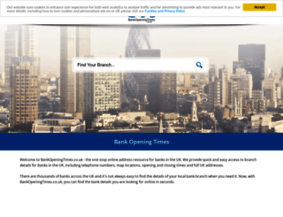 bankopeningtimes.co.uk screenshot