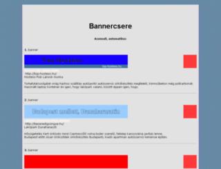 bannercsere.azonnal.net screenshot