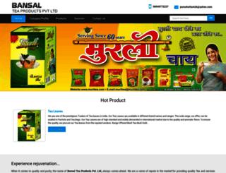 bansaltea.co.in screenshot