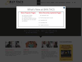 bantacs.com.au screenshot