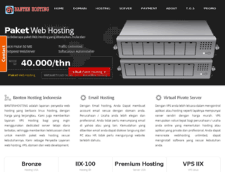 bantenhosting.net screenshot