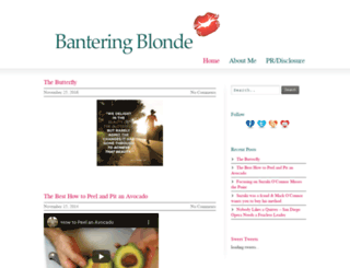 banteringblonde.com screenshot