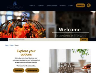 baptisthousing.org screenshot