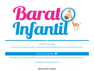 baratoinfantil.com.br screenshot