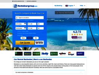 barbados.rentalcargroup.com screenshot