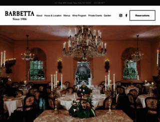 barbettarestaurant.com screenshot