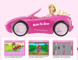 barbie-car-games.com screenshot