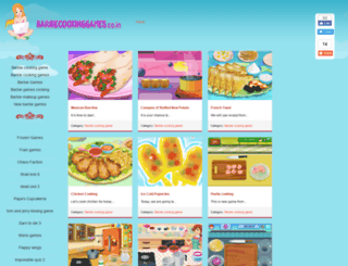 barbiecookinggames.co.in screenshot