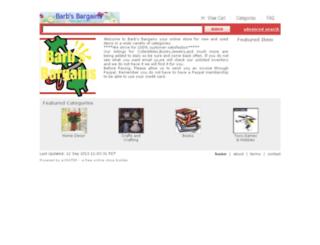 barbsbargains.ecrater.com screenshot
