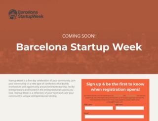 barcelona.startupweek.co screenshot