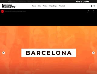 barcelonashoppingline.com screenshot