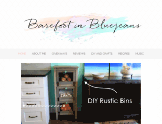 barefootinbluejeans.com screenshot