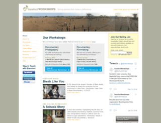 barefootworkshops.org screenshot