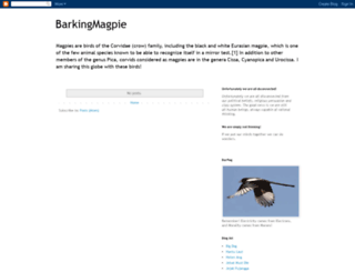 barkingmagpie.blogspot.com screenshot
