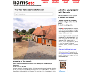 barnsetc.co.uk screenshot