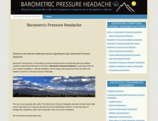 barometricpressureheadache.com screenshot