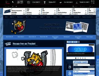 barrieminorhockey.net screenshot
