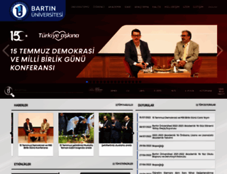 bartin.edu.tr screenshot