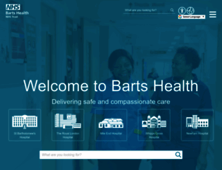 bartshealth.nhs.uk screenshot