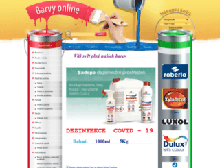 barvyonline.cz screenshot
