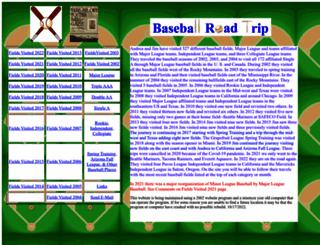 baseballroadtrip.net screenshot