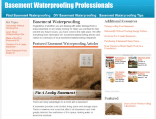 basementwaterproofingprofessionals.com screenshot