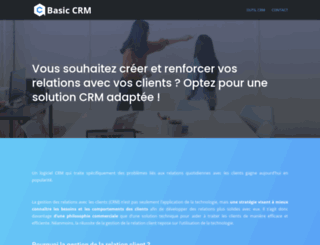 basiccrm.fr screenshot
