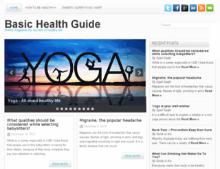 basichealthguide.com screenshot