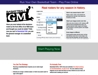 basketball-gm.com screenshot