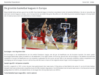 basketbalvlaanderen.org screenshot