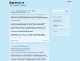bastelhuette.de screenshot