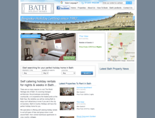 bathholidayhomes.co.uk screenshot