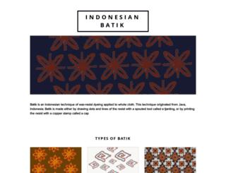 batikindonesia.org screenshot