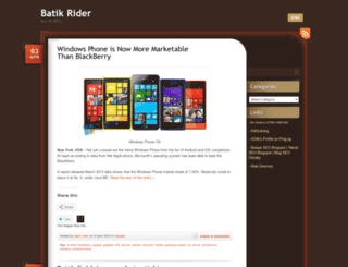 batikrider.wordpress.com screenshot